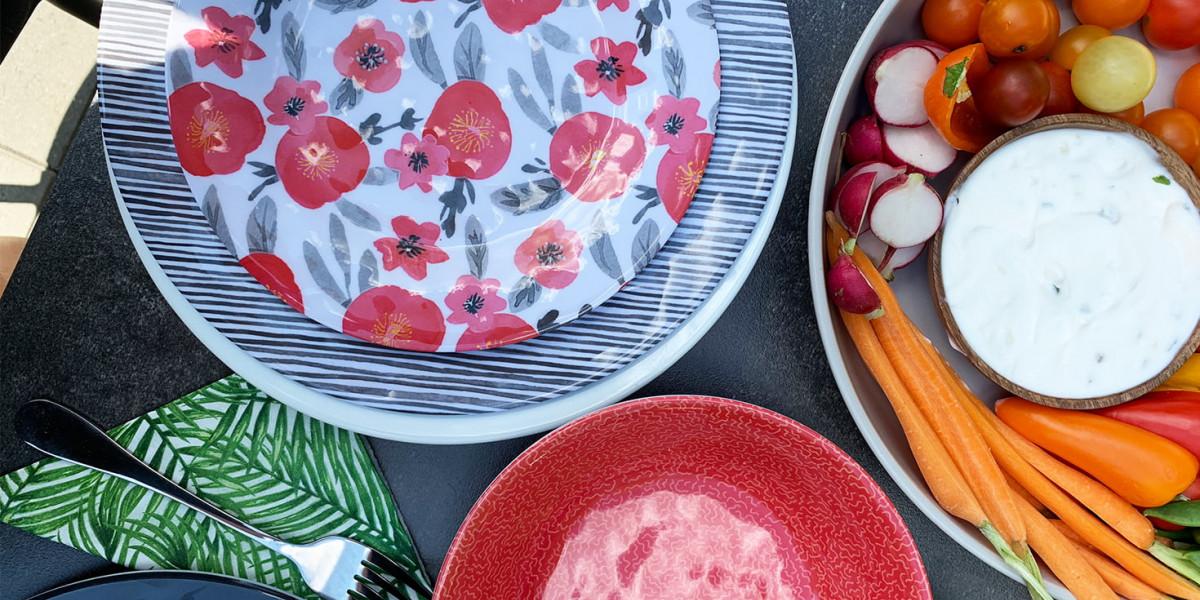 Vaisselle extérieure et linges de table