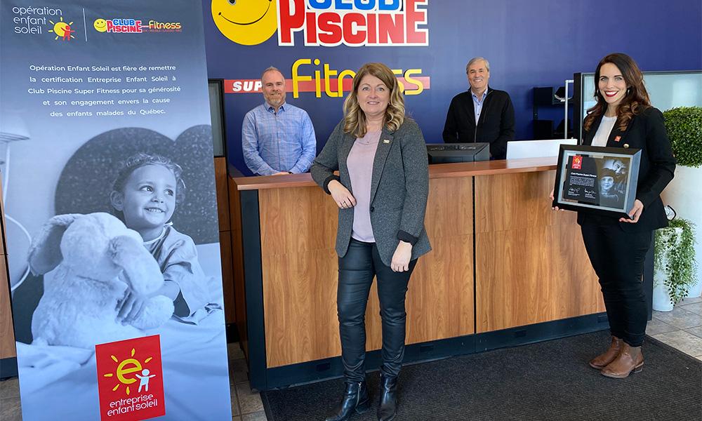 Depuis 2021, Club Piscine est maintenant certifié Entreprise Enfant Soleil.