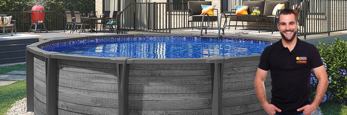 Aboveground pool opening