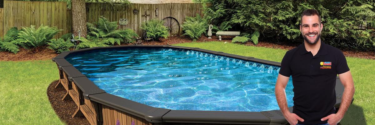 Ouverture de piscine semi creusée
