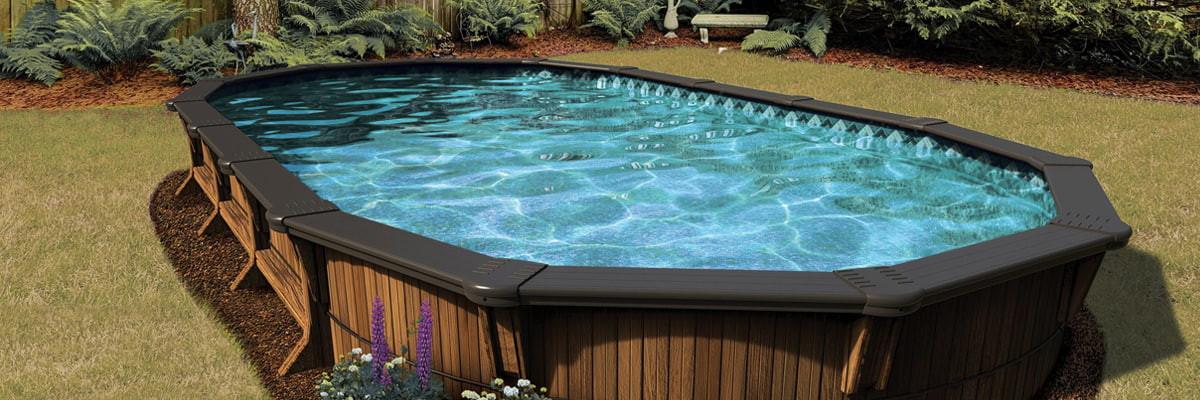 Semi in-ground pool closing