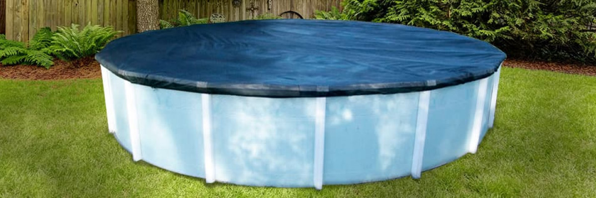 Installation of a swimming pool winter cover