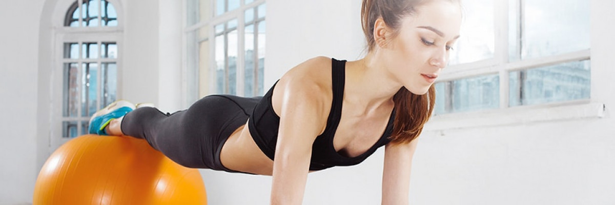 Exercise ball workout: Legs