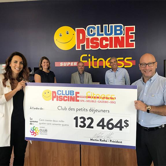 Un don de 132 464$ au Club des Petits Déjeuners