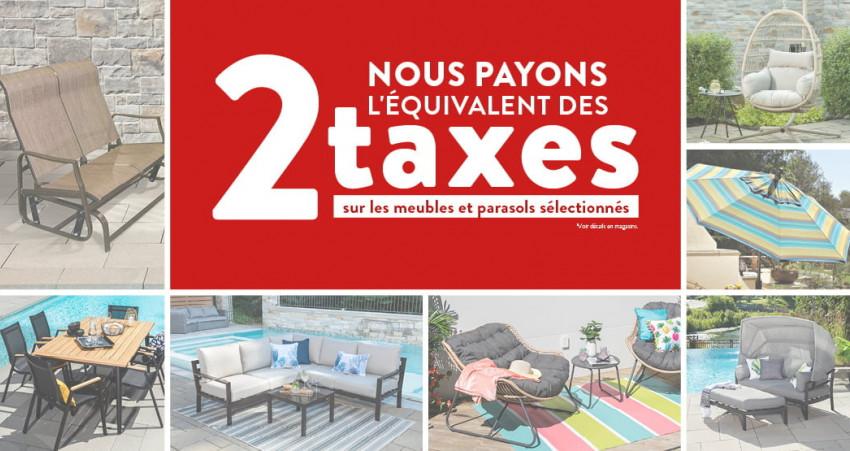 Nous payons l'équivalent des 2 taxes